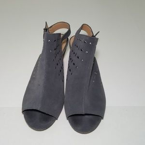 Joe's Peep Toe Sling Back Heels Size 9.5 Suede